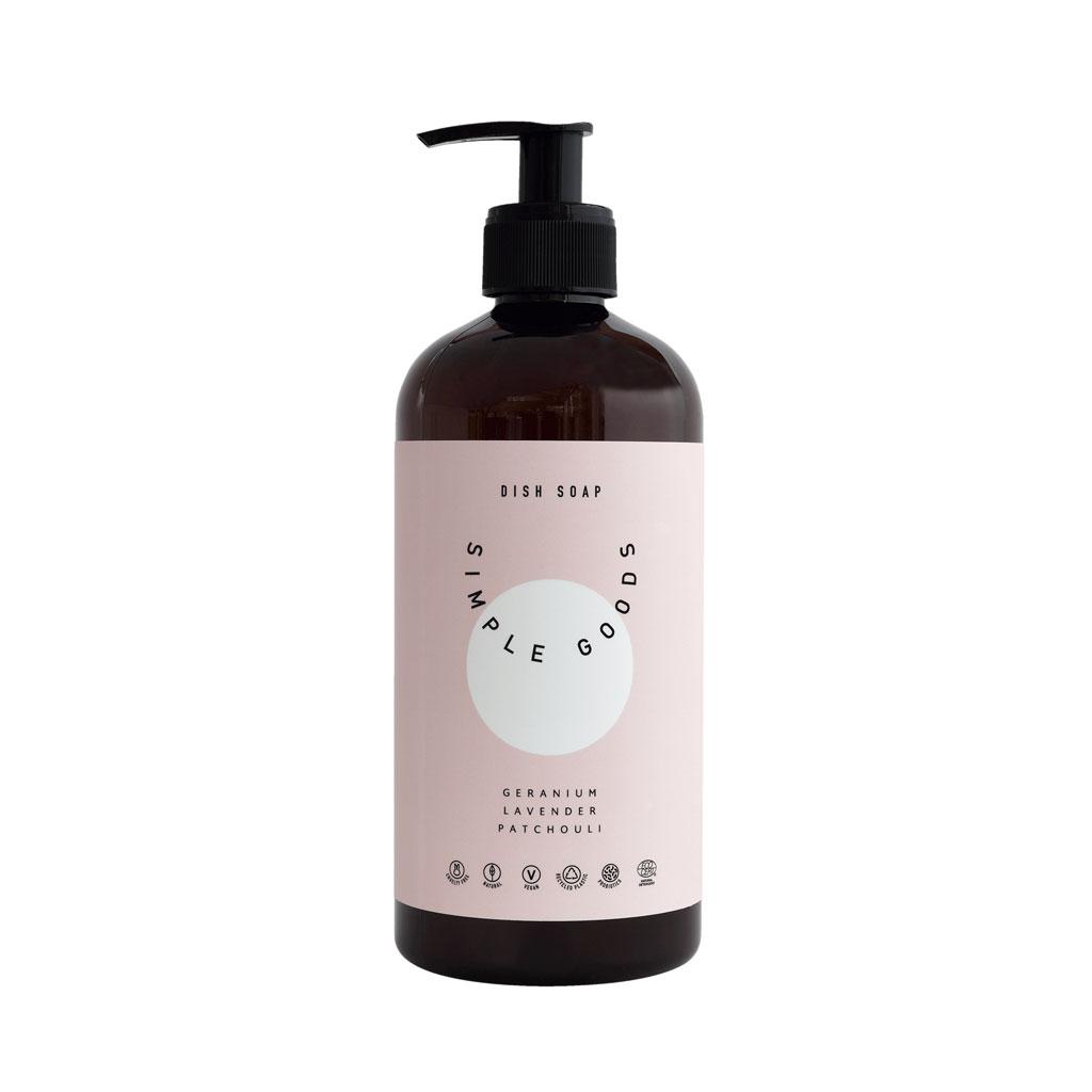 Dish Soap, Geranium, Lavendel, Patchouli - Simple Goods