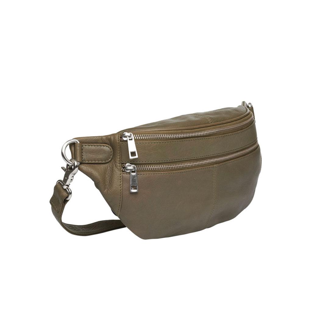 Bæltetaske Astrid, Olive læder
