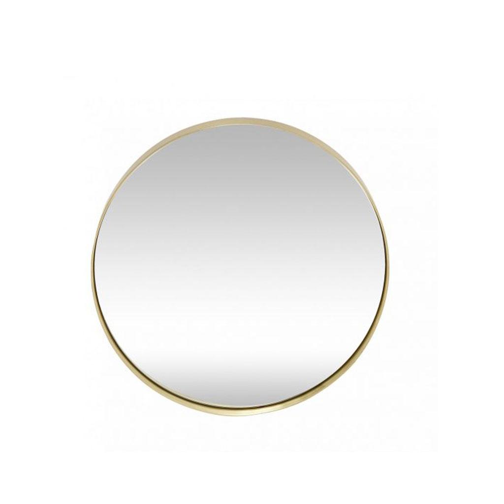 Spejl med messingkant, Hübsch