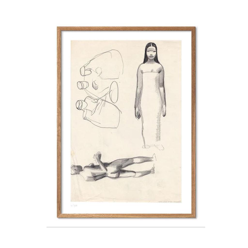 Plakat, Kvinde i Kjole, A4