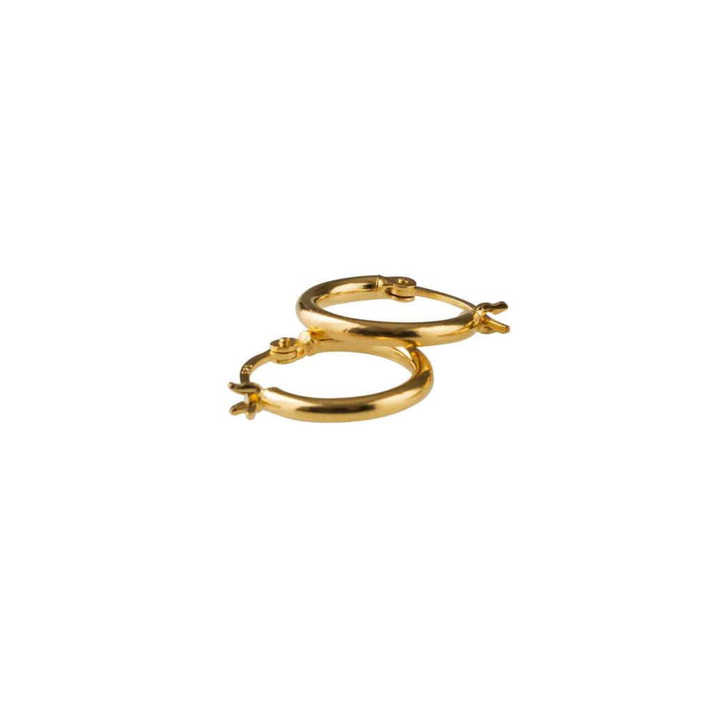 Øreringe, Basic small hoop, Guld/sølv, Pico