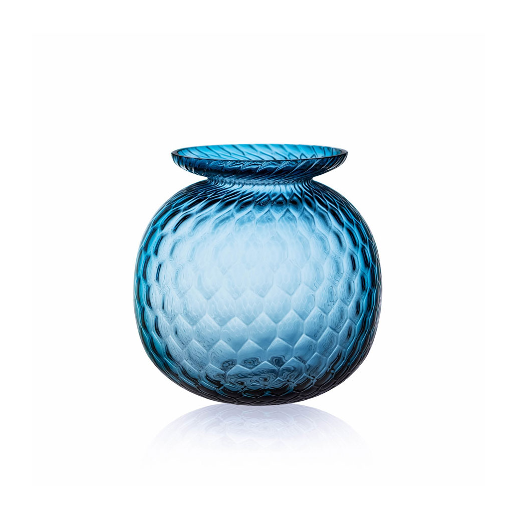 Vase, Balloon Croco Blue Smoke, Anna Von Lipa