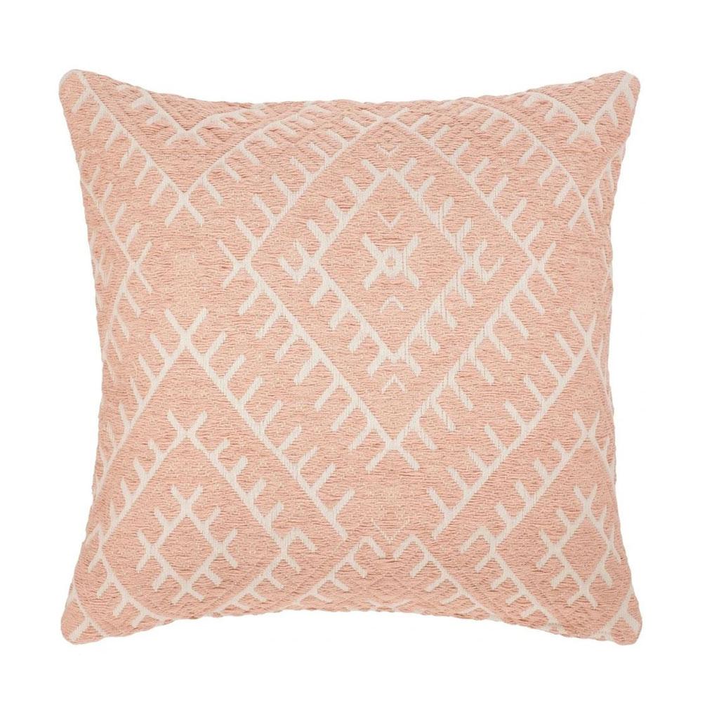 Pude, Pink vævet mønster 65x65cm