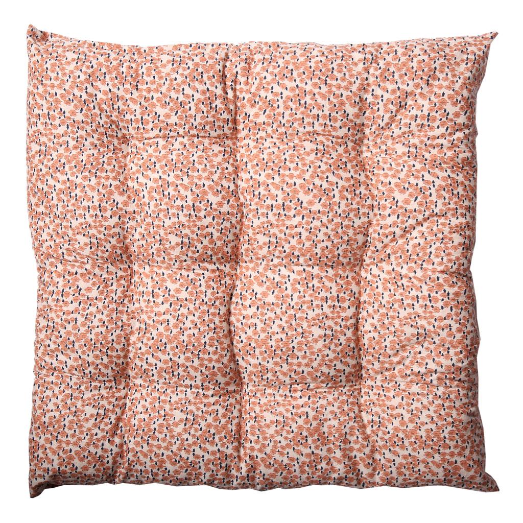 Hynde, Cremefarvet med rosa mønster, 40X40cm