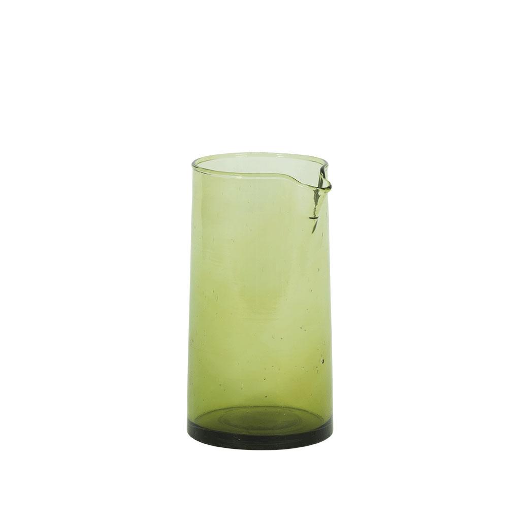 Kande i genanvendt glas, H 18cm