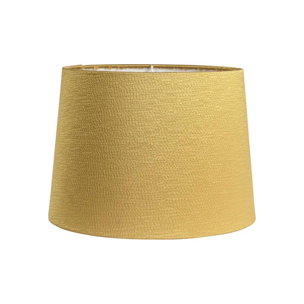 Lampeskærm, Sofia Glint Silkelook, Gylden gul