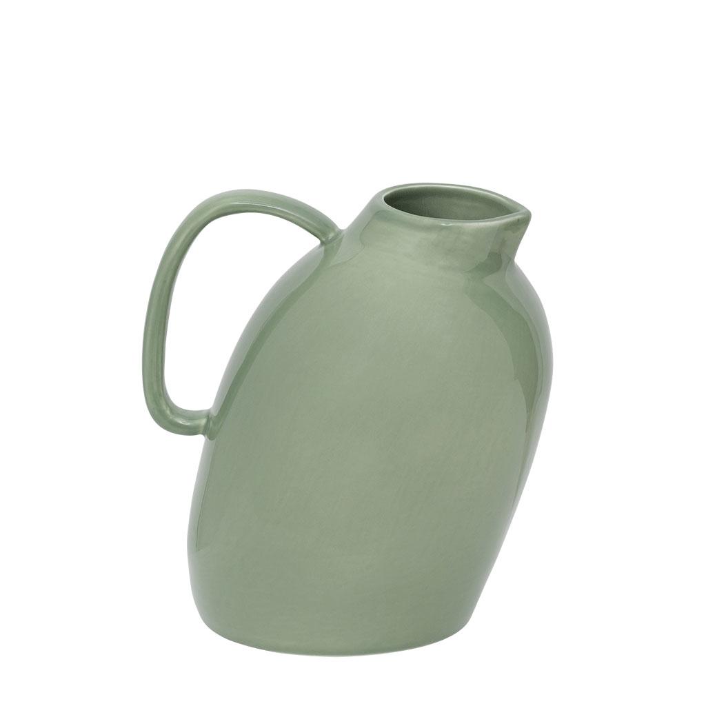 "Kande ""Artisanal"", grønglaseret keramik"