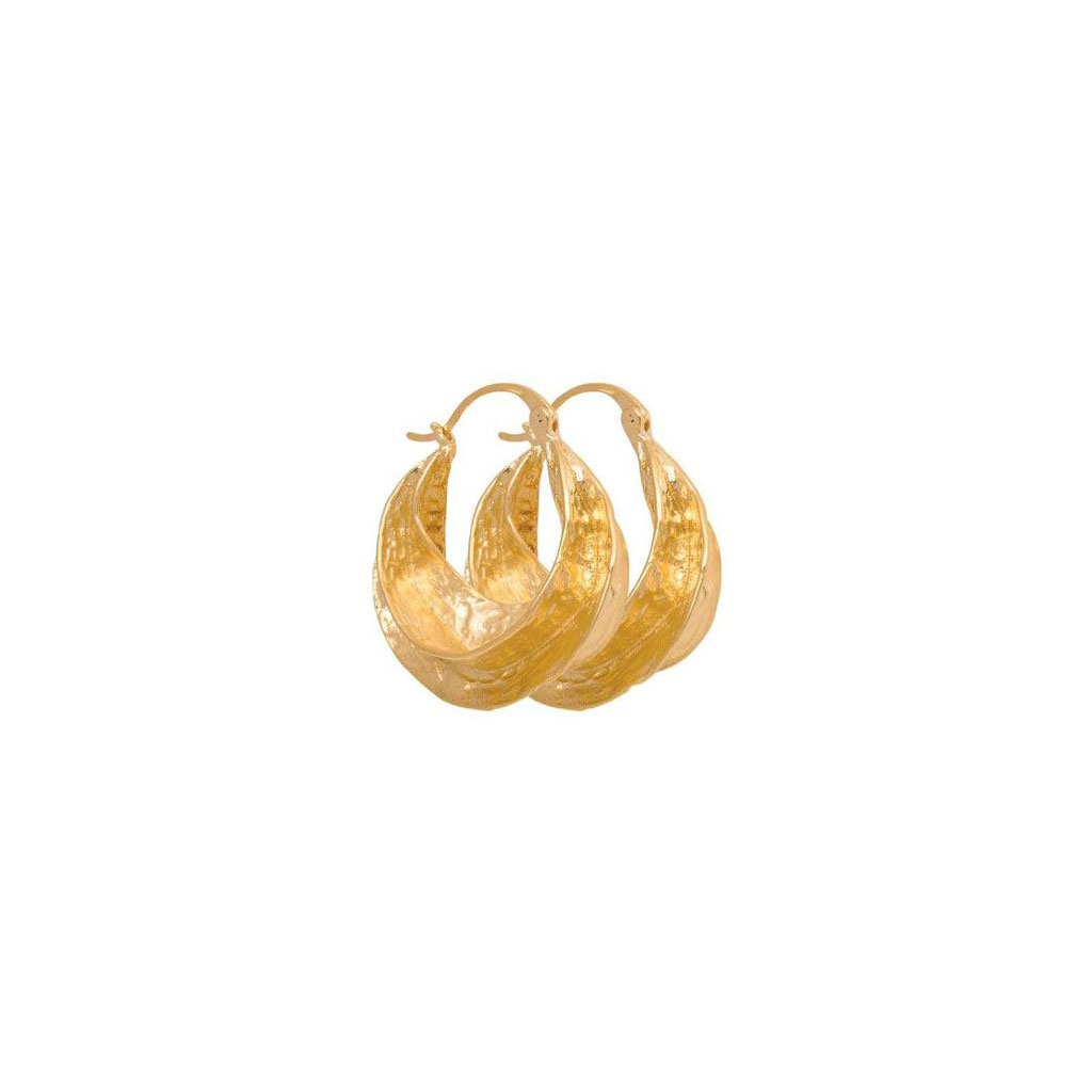 Pico øreringe, Afrika, guld/sølv