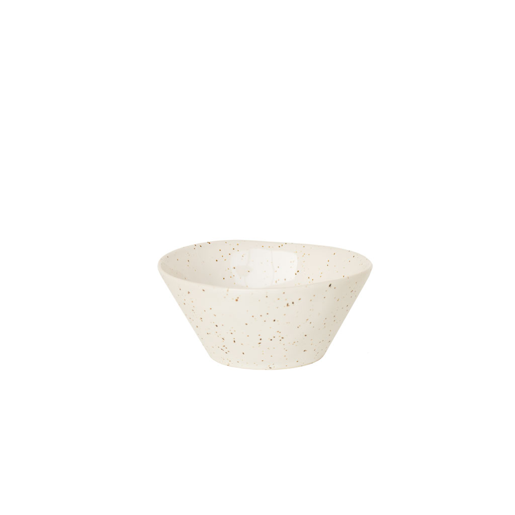 """Keramikskål, med """"fregner"""" Ø 13,5cm"""