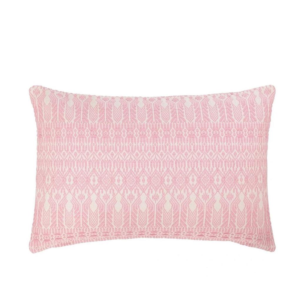 Pude, Pink vævet mønster, 40x60cm