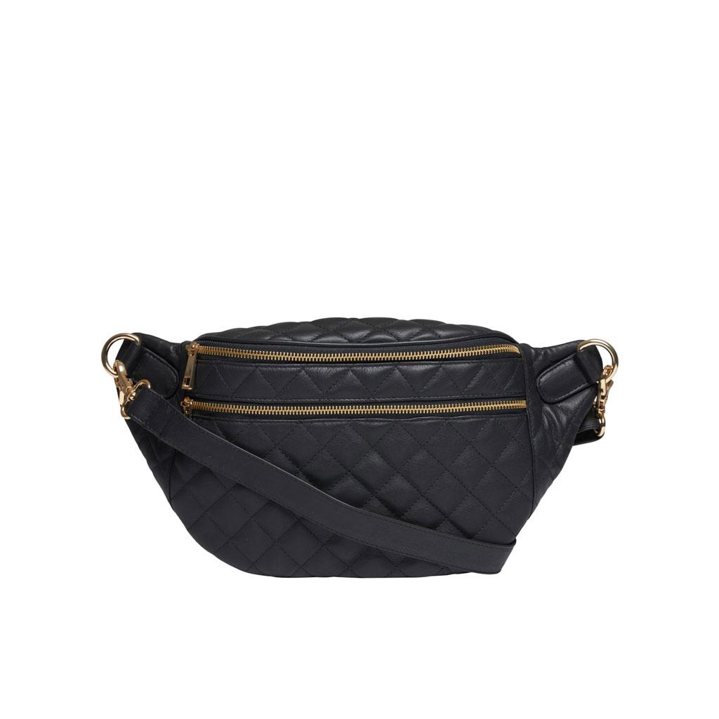 Bæltetaske, Jada, Sort læder