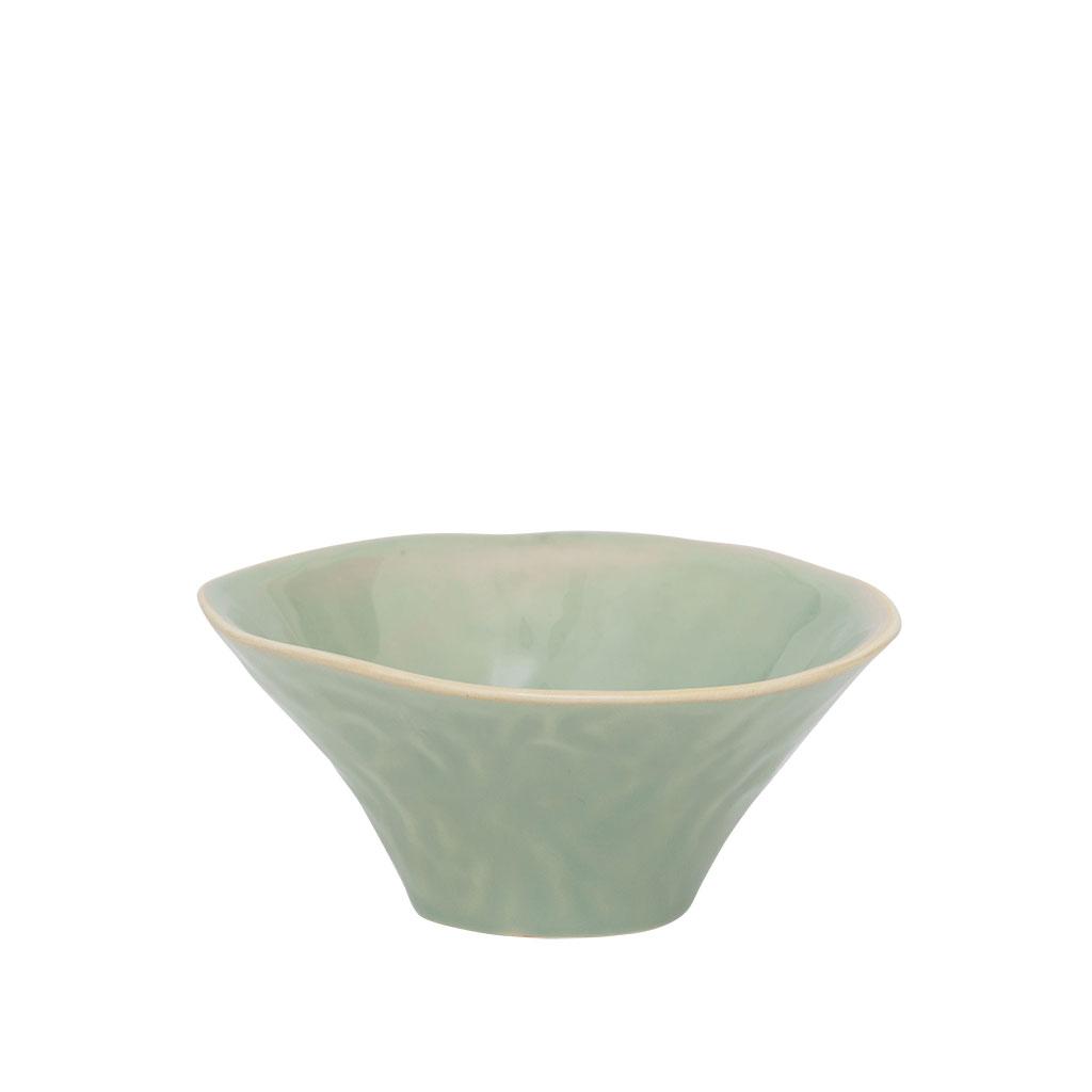 """Skål """"Whimsical"""", grønglaseret stentøj, Ø13cm"""