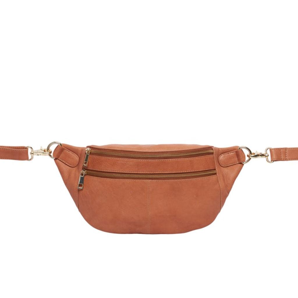 Bæltetaske Astrid, Cognac læder