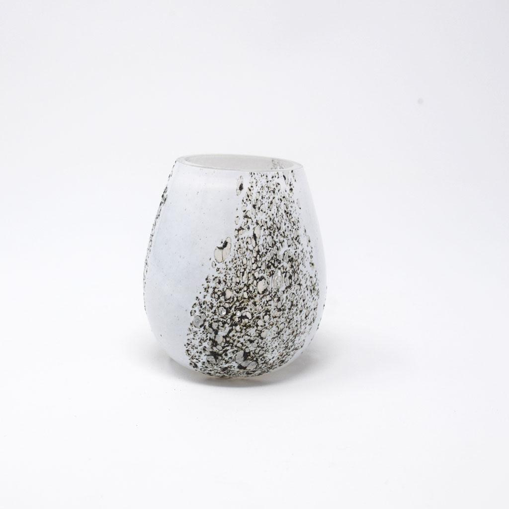 Zelmer Olsen, Lille Vase, Hvid og Jern