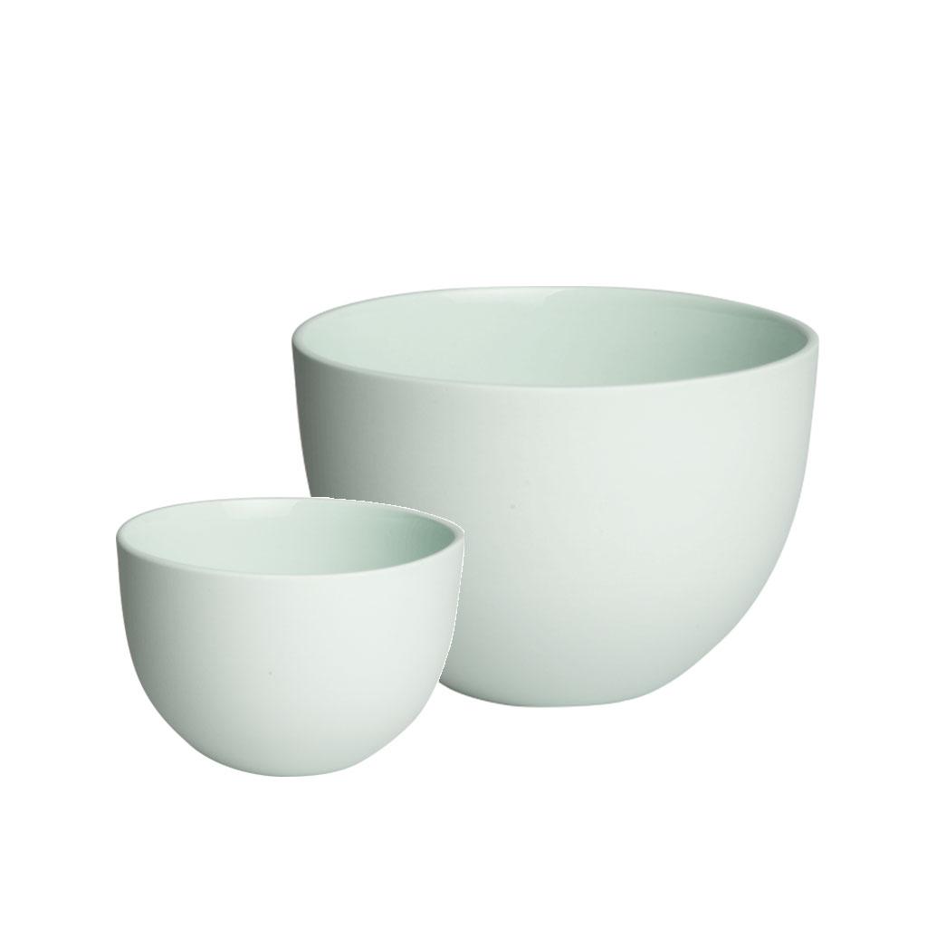 Skål, mingrøn porcelæn