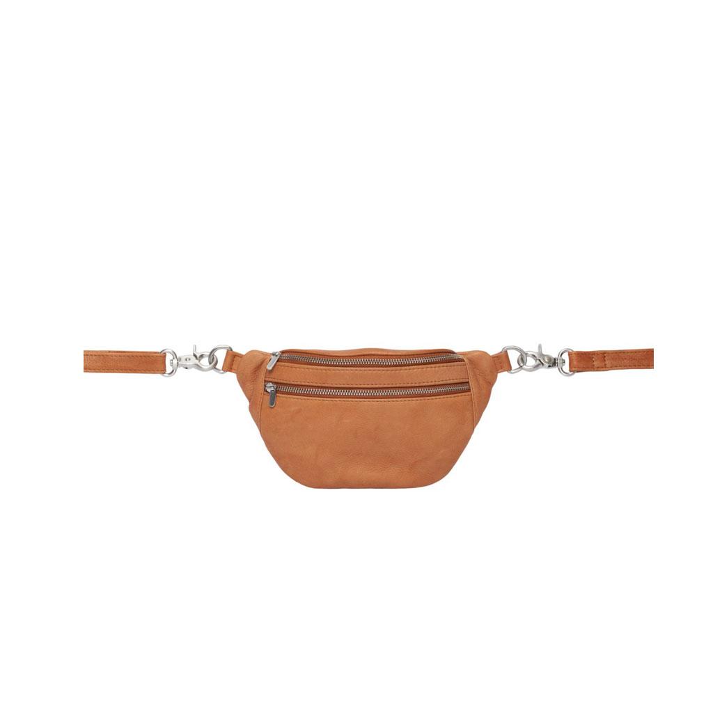 Bæltetaske Astrid Mini, Cognac læder