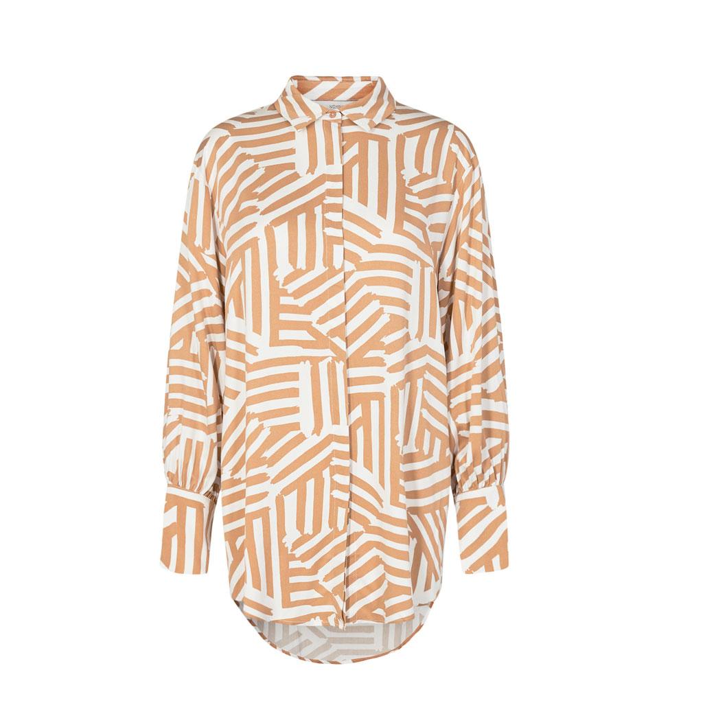 Lang skjorte, Mønstret Tannin, Nümph