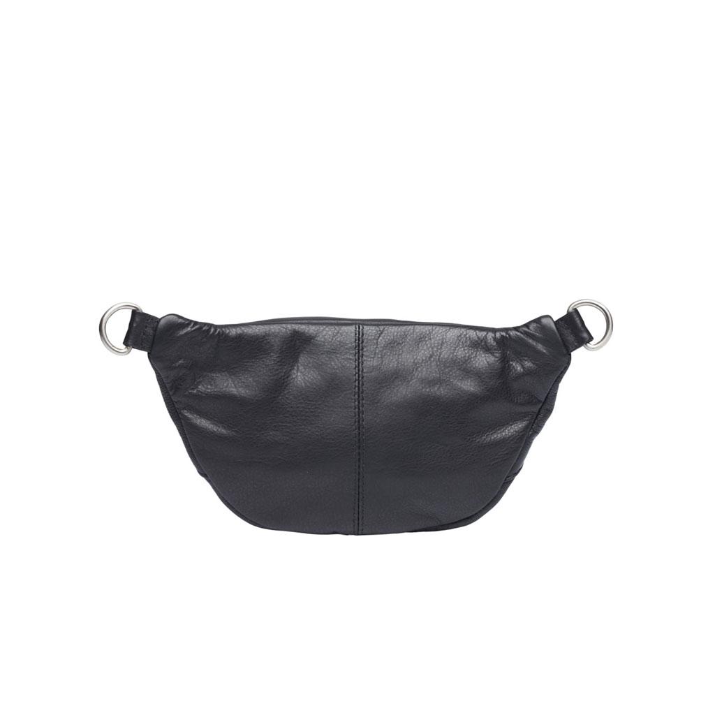 Bæltetaske Astrid Mini, Sort læder