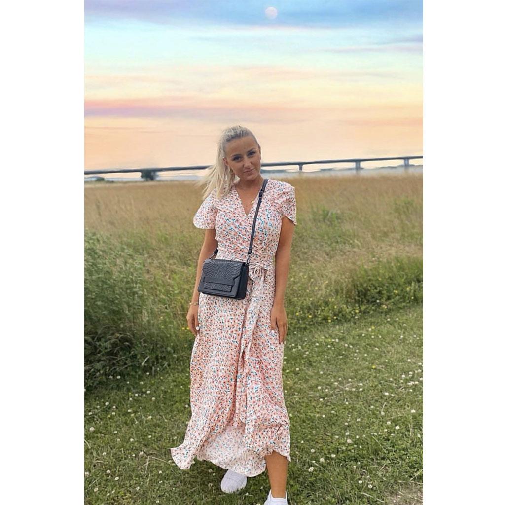 Slå-om kjole, Rosa Blomster