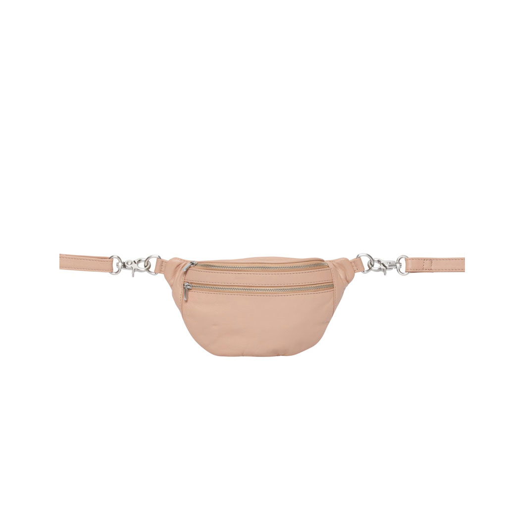 Bæltetaske Astrid Mini, Nude læder