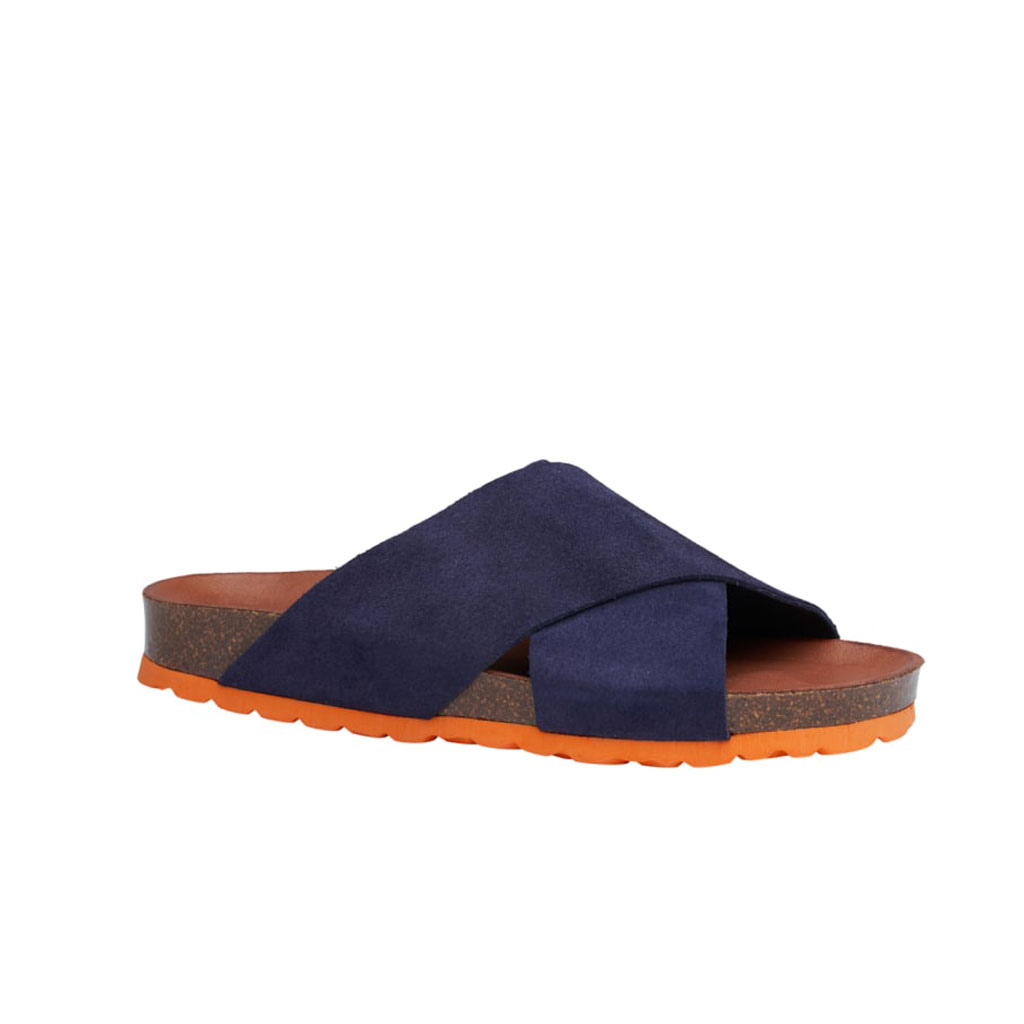 Sandal, Annet, Blå med orange sål