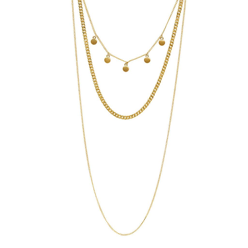 Halskæde Vanity Chain Guld / Sølv