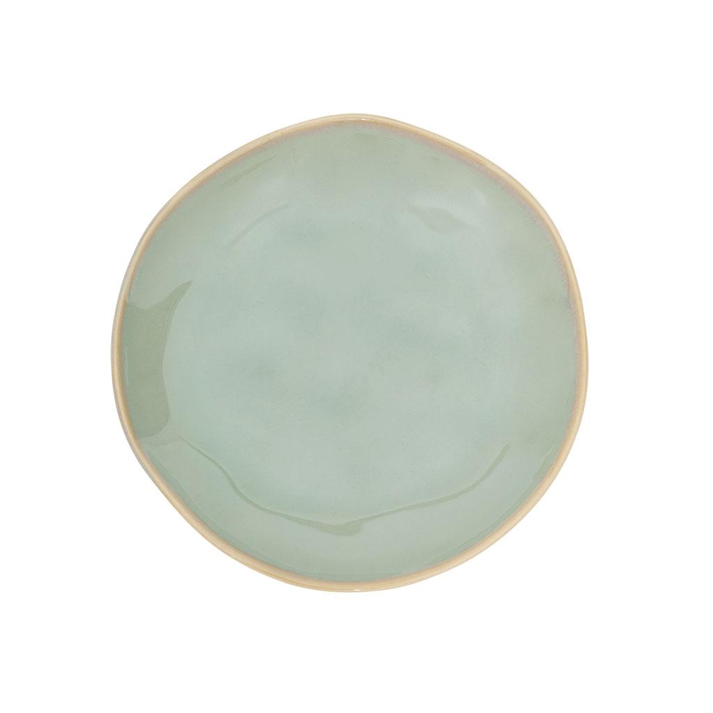 "Tallerken ""Grow"", grønglaseret keramik Ø15cm"