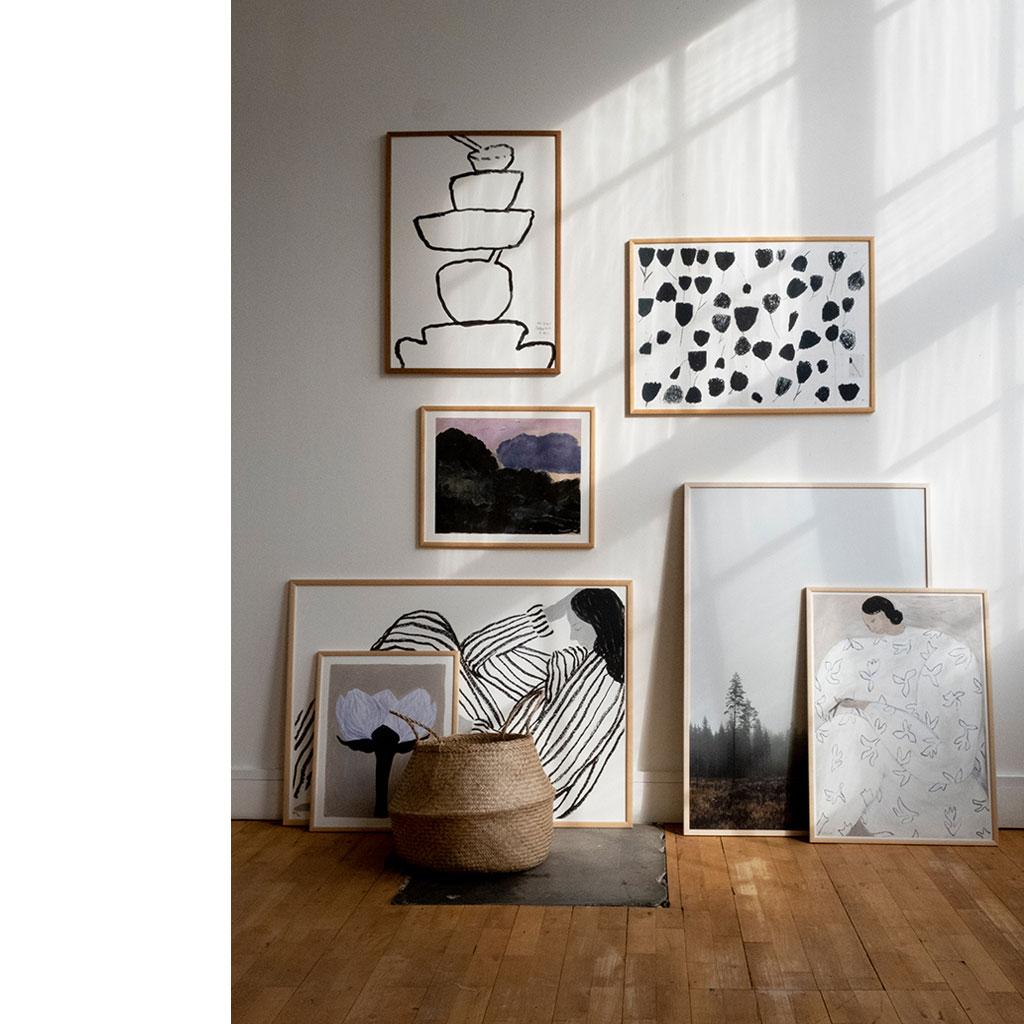 Plakat, White Flower 50x70cm - Sofia Lind