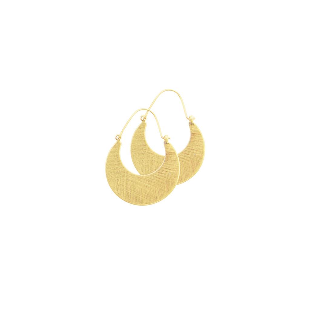 Øreringe Tara Plate Hoop Guld / Sølv