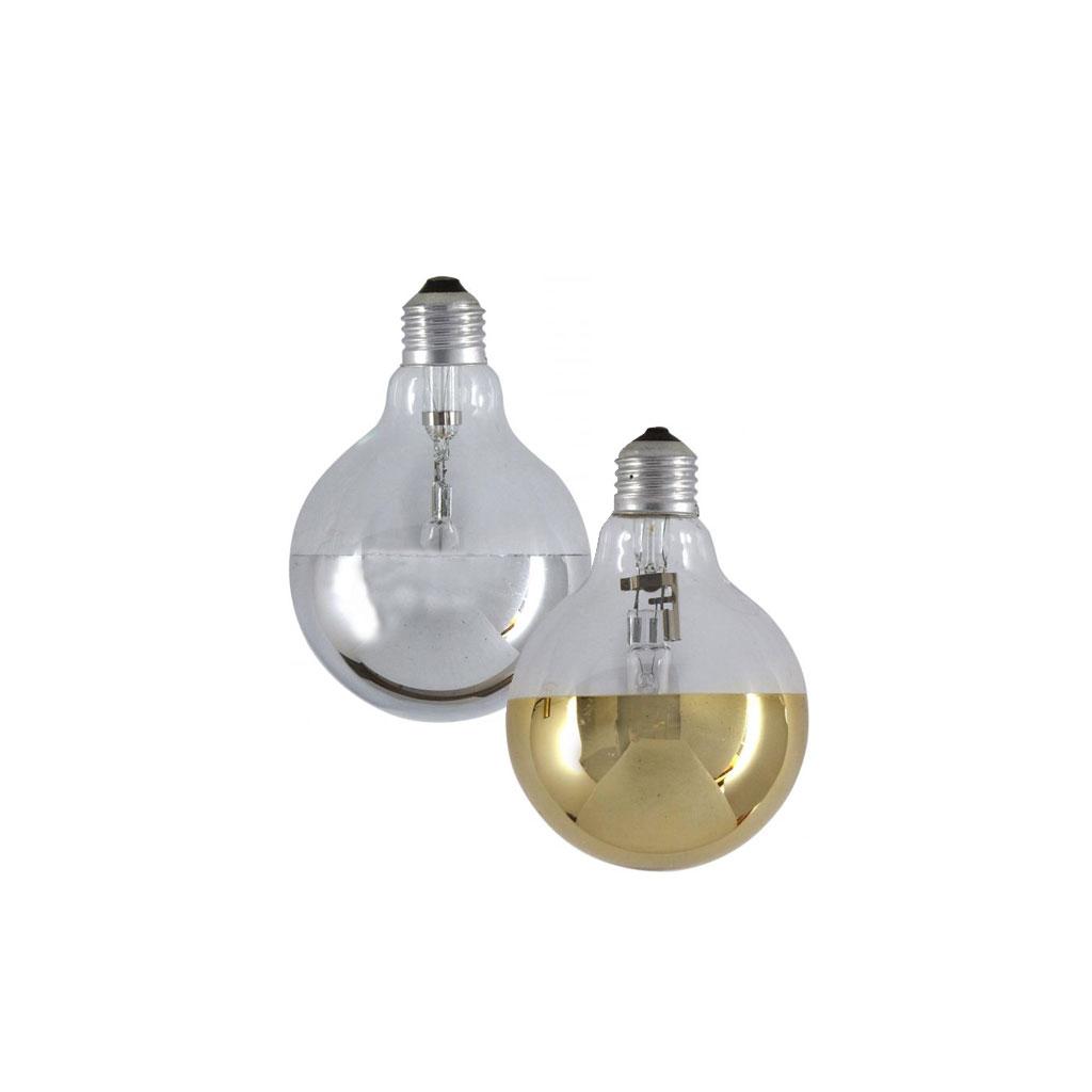 Mirror Bulb, Sølv/Guld Ø80mm