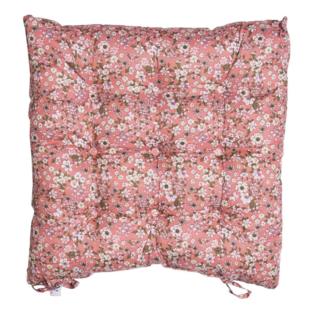 Hynde, Rosa med blomster 40x40cm