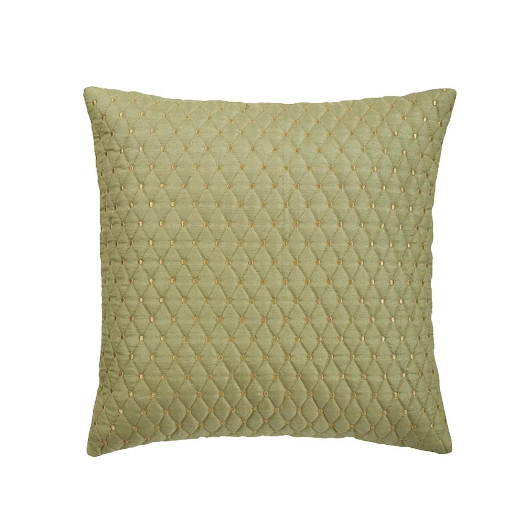 Pude Mintgrøn med Guldmønster, 60x60cm