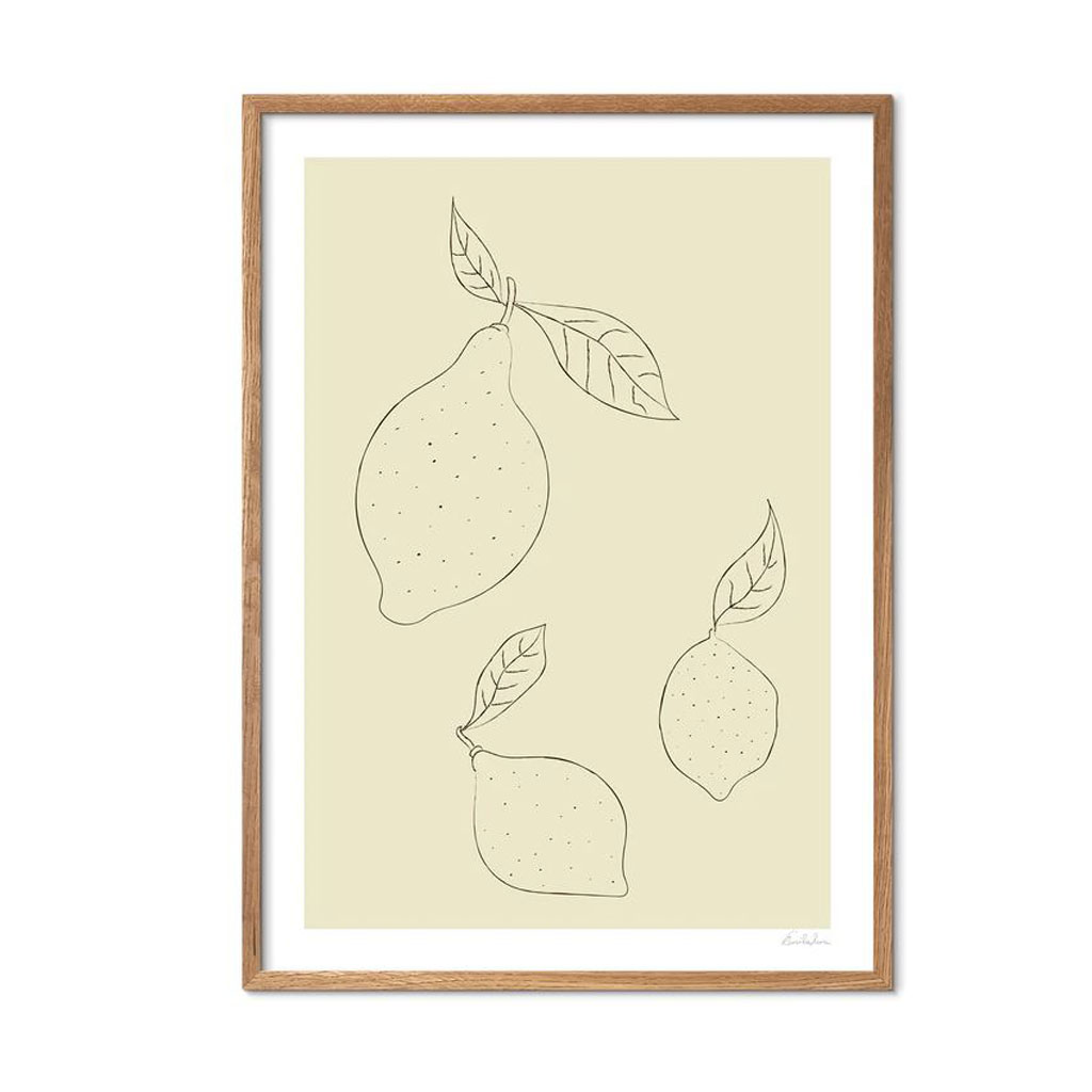 Plakat, Simple Lemons, A4