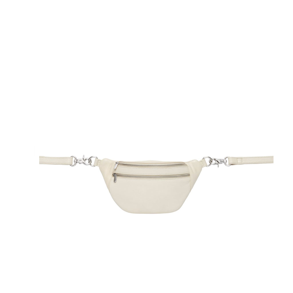 Bæltetaske Astrid Mini, Offwhite læder