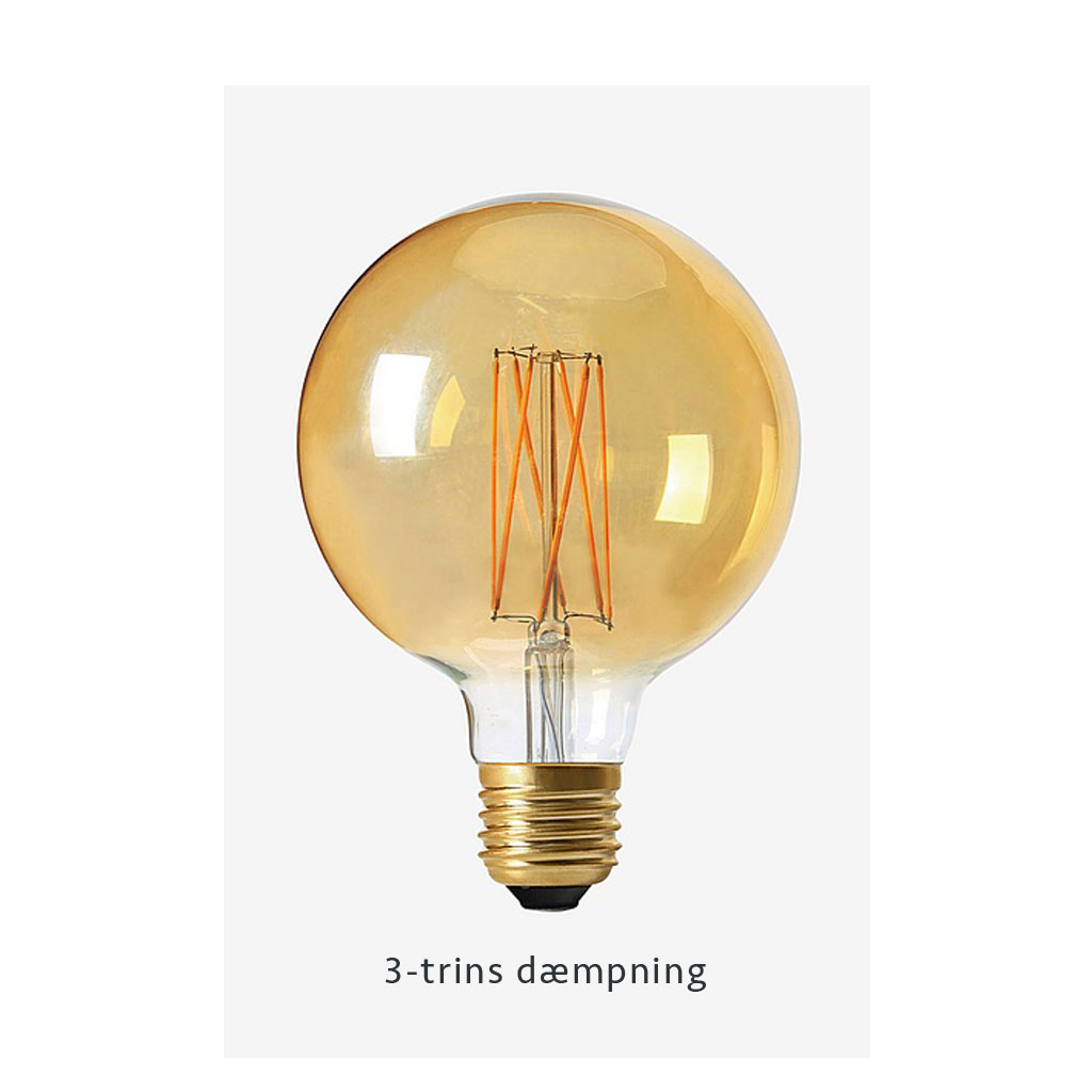 Pære, Elect LED 3-step dim, Globe Gold