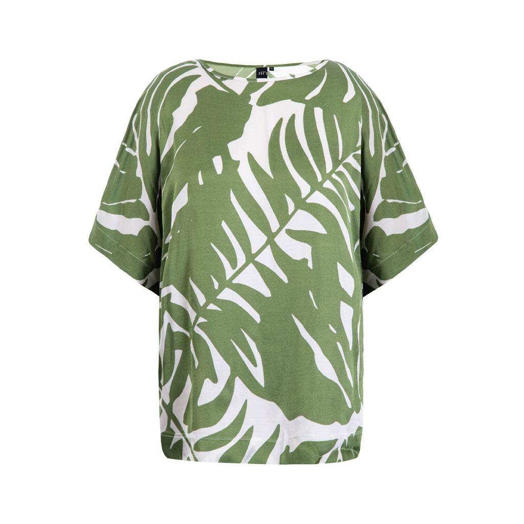 Bluse med bladmønster, Paulx, Ril's