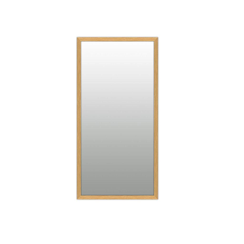 Vægspejl, egetræ, 43x83cm