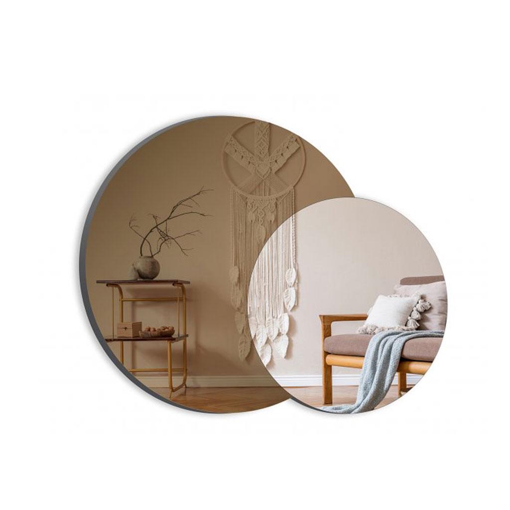 Vægspejl, dobbelt, Bronze og silver