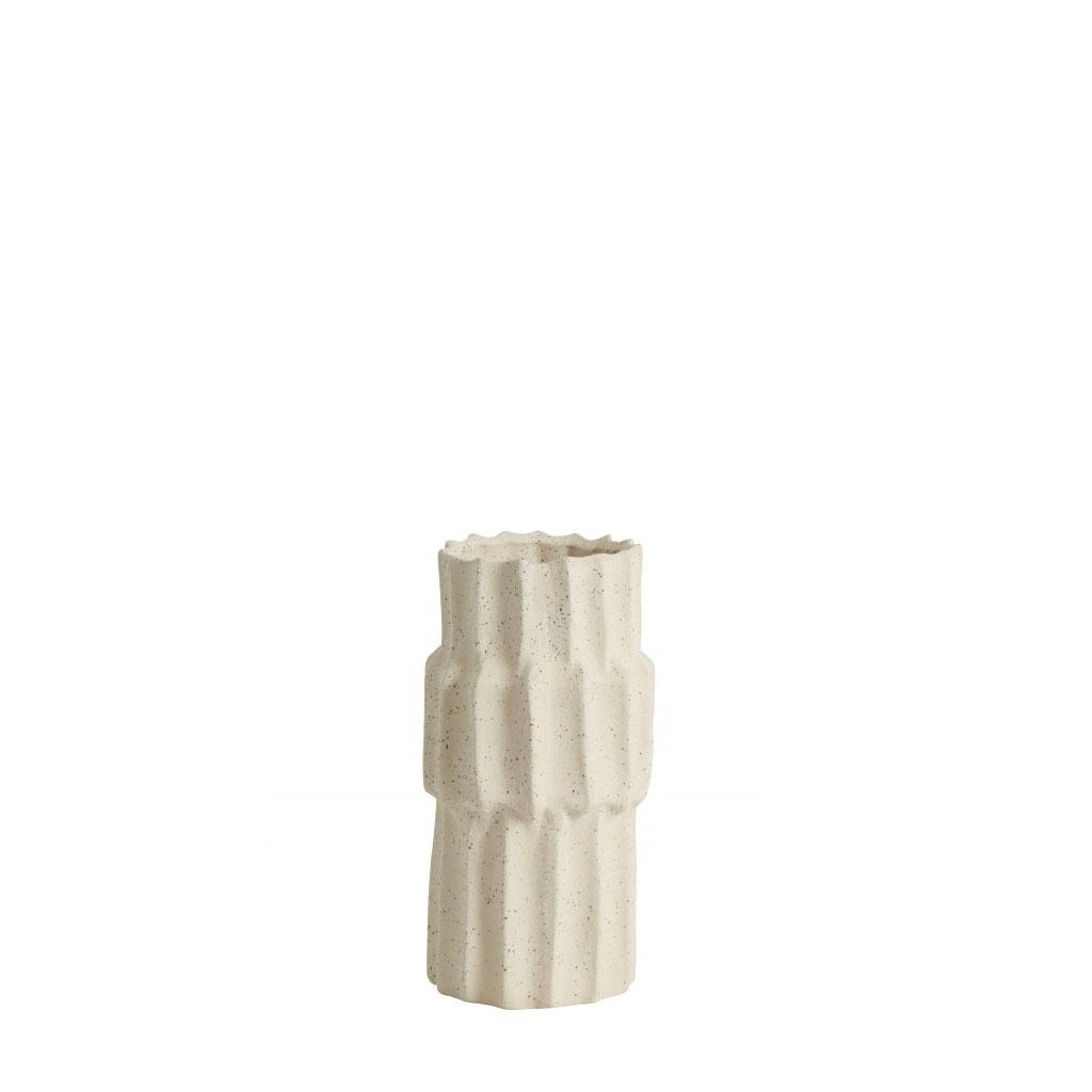 Vase, stentøj creme, 3 størrelser