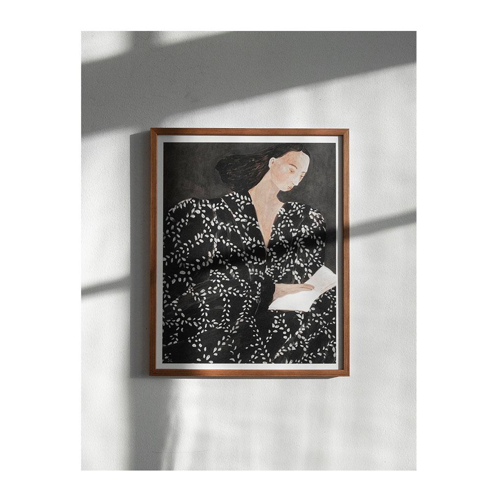 Plakat, Reading 40x50cm - Sofia Lind