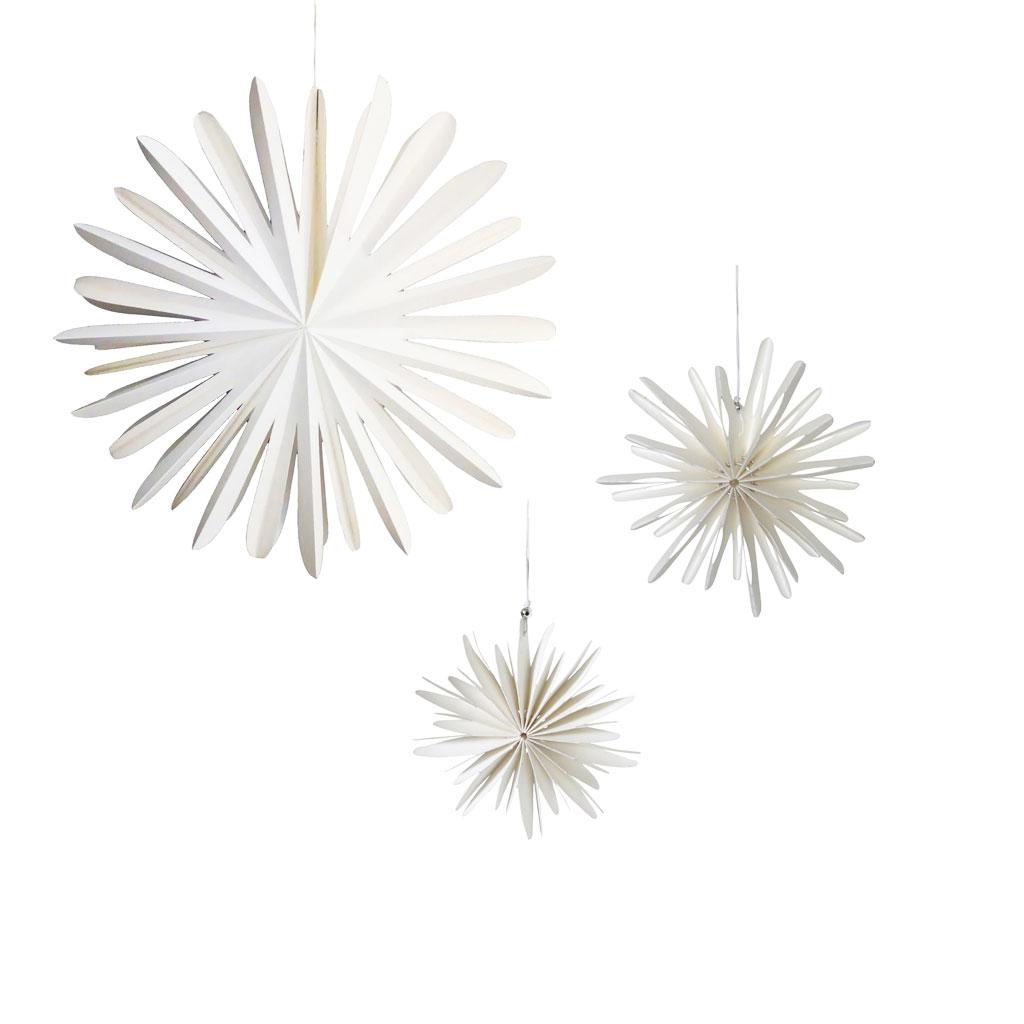 Papirstjerne 3 størrelser, juleophæng