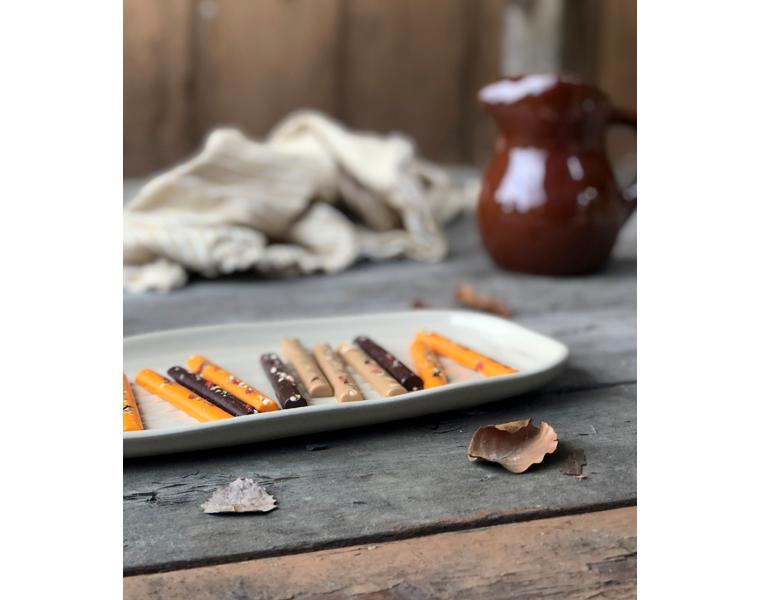 Pinner - Appelsin og karamellsjokolade med frø og nøtter