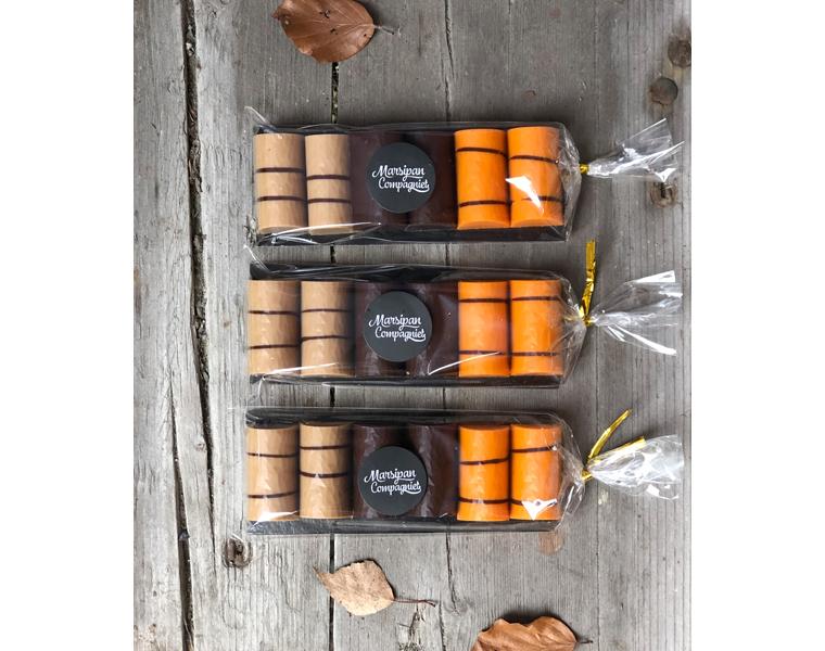 Kubber 6 pk - Appelsin, Karamell & mørk 70% sjokolade