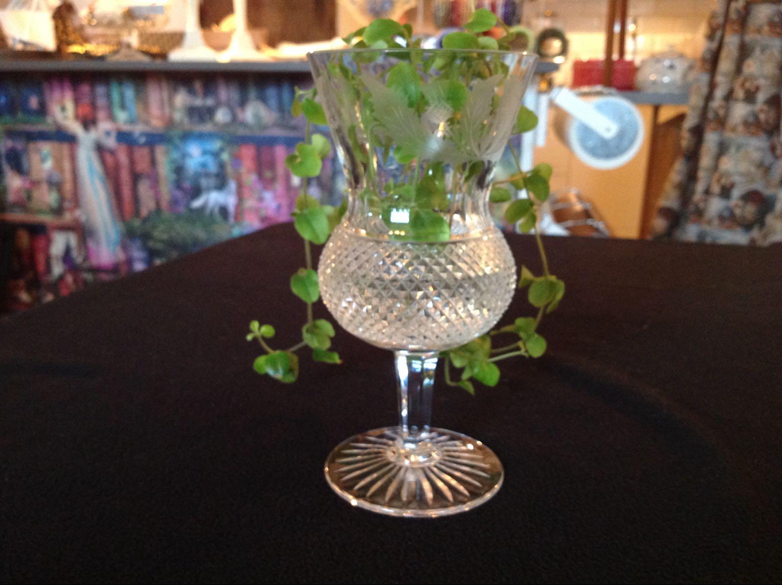 Vas glas slipad (second hand, vintage, retro)