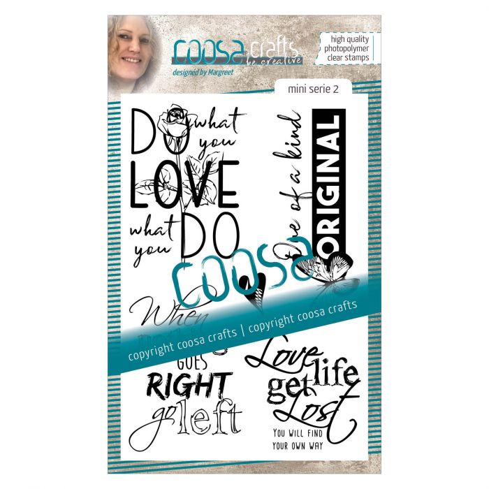 COOSA Clear stamp English #2 Quote Mini's