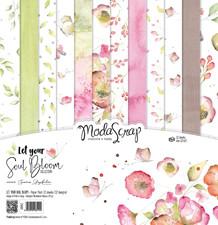 ModaScrap PAPER PACK LET YOUR SOUL BLOOM 12x12