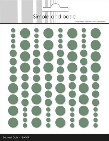 SBA009 Enamel Dots Eucalyptus (96 pcs)