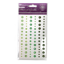 HD Diamond Sparkles Gemstones - Green Shimmer
