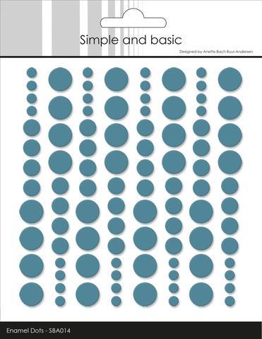 SBA014 Enamel Dots Aqua (96 pcs)
