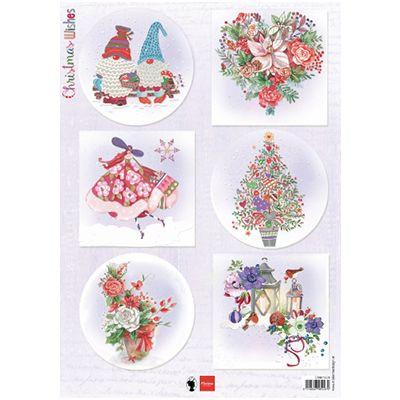Marianne Design A4 Motiv ark Christmas wishes gnomes EWK1279